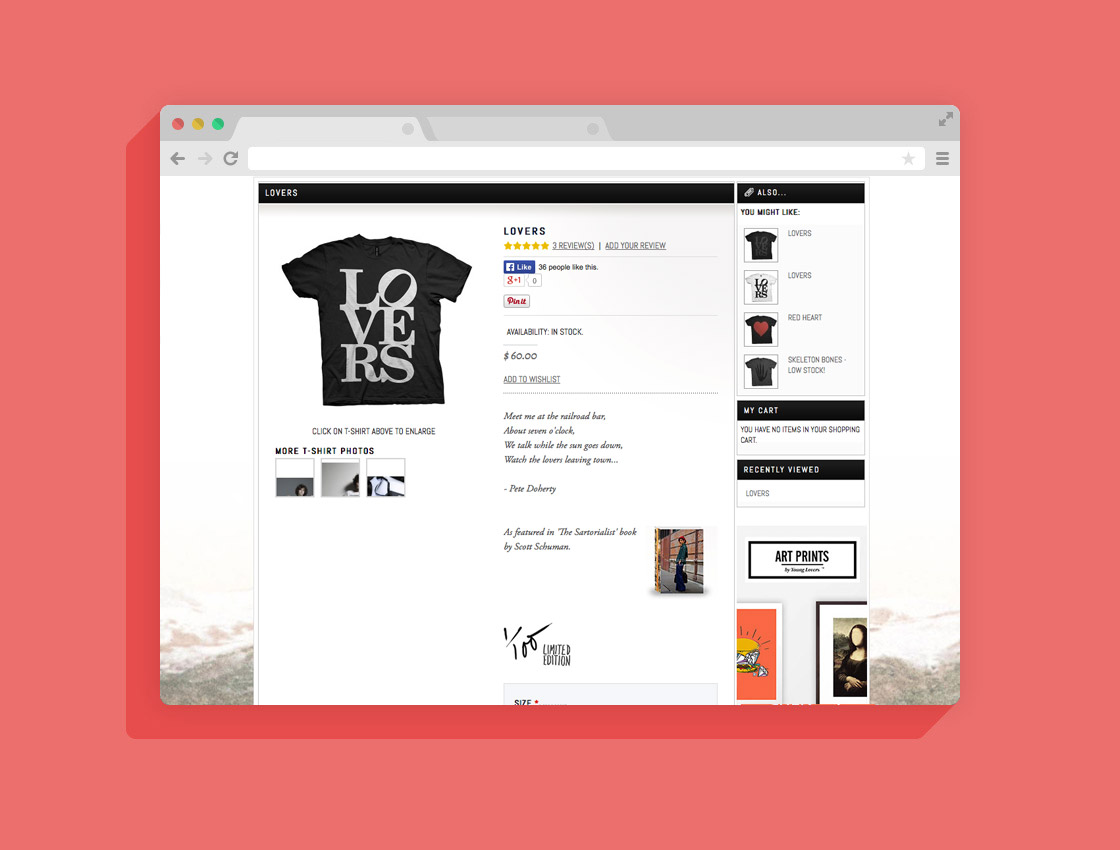 for Young Lovers Label ®  www.youngloverslabel.com